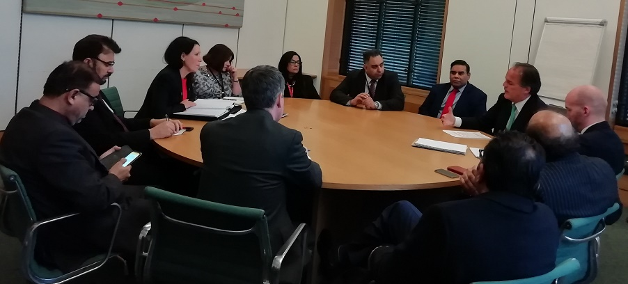 Kashmir APPG meets with Minster